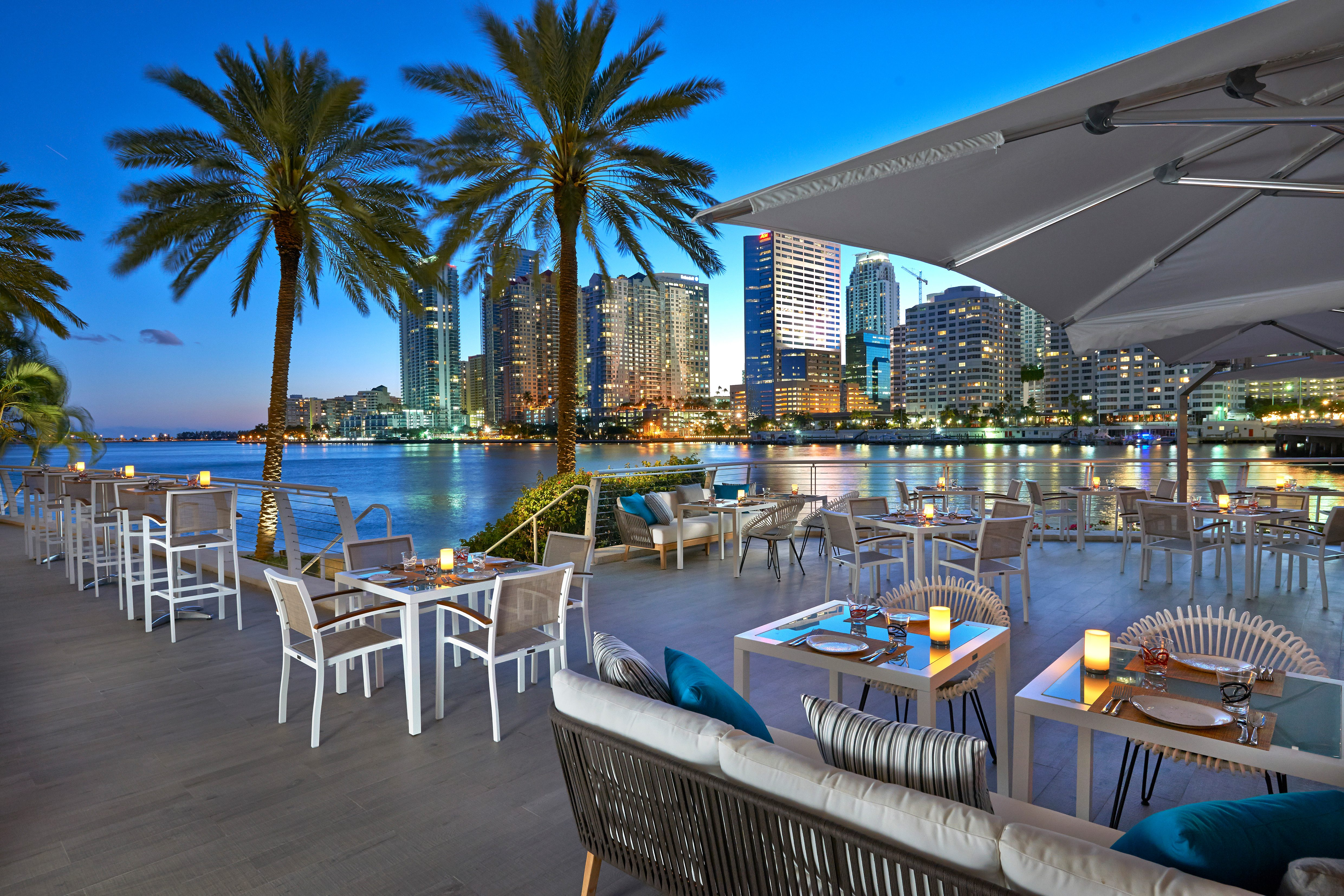 The terrace at La Mar restaurant at Mandarin Oriental, Miami
