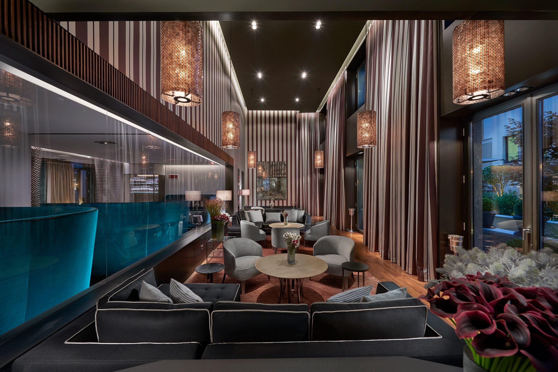 Interior of the Mandarin Bar and Lounge at Mandarin Oriental, Milan