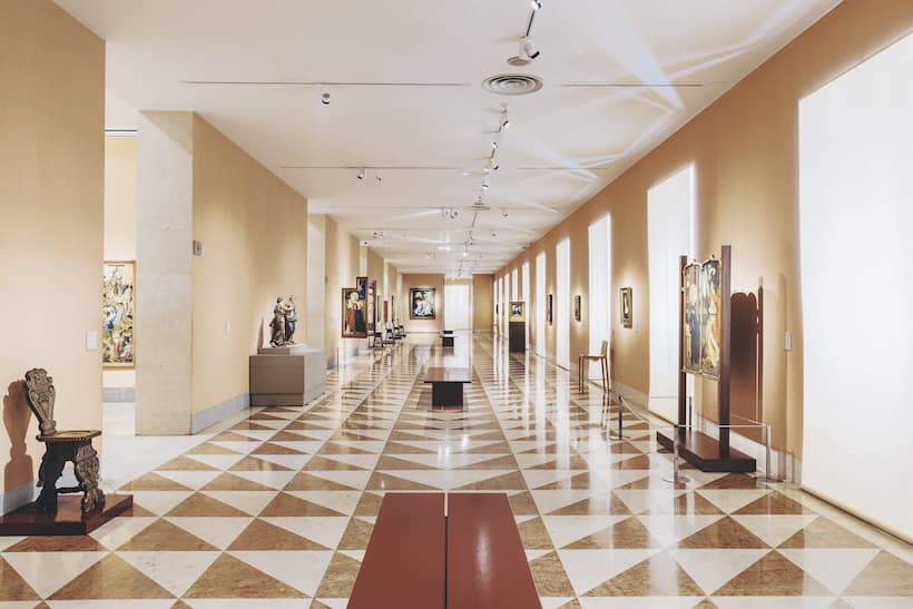 Interior of one of Madrid's many magnificent museums