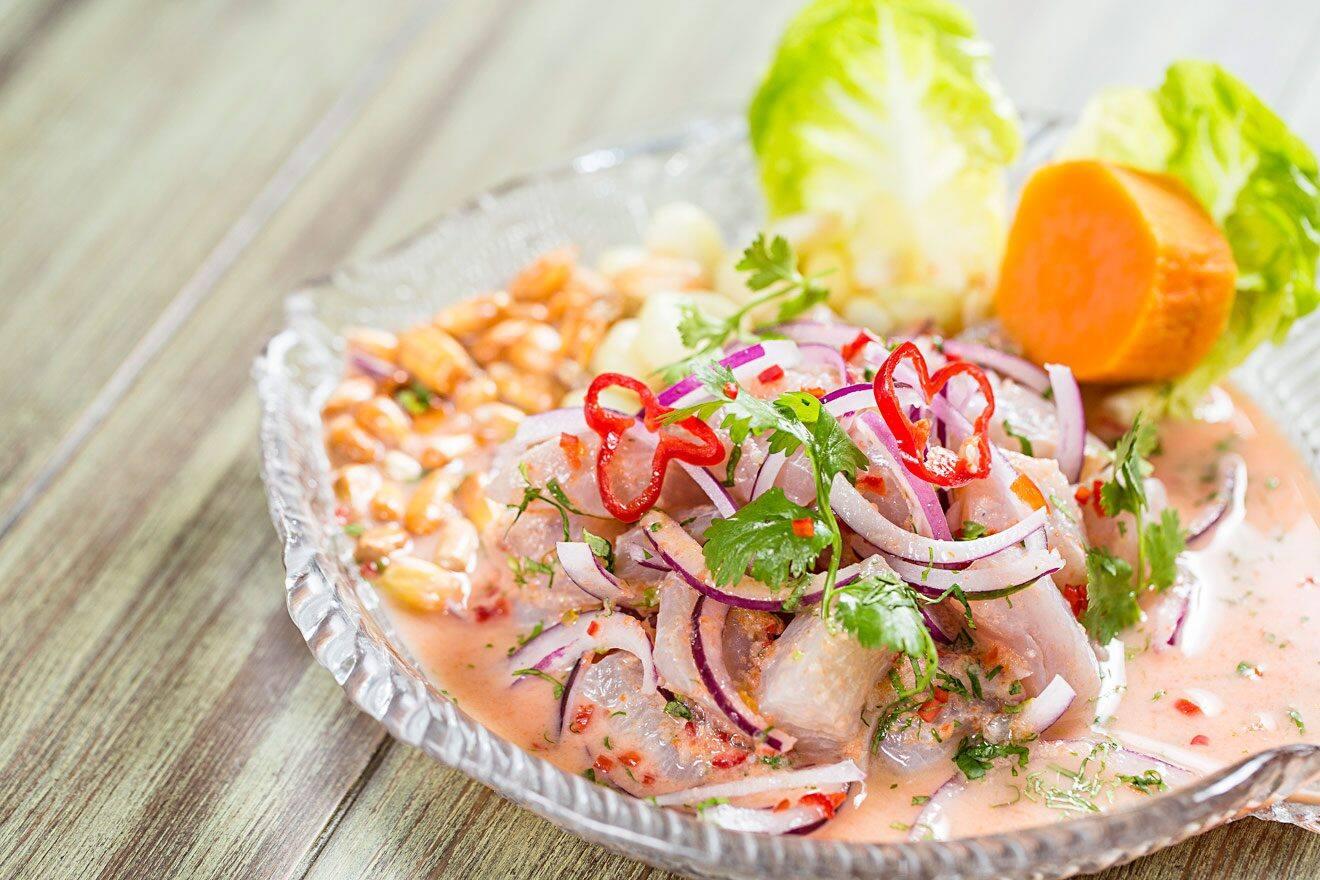 Seafood dish at Yakumanka
