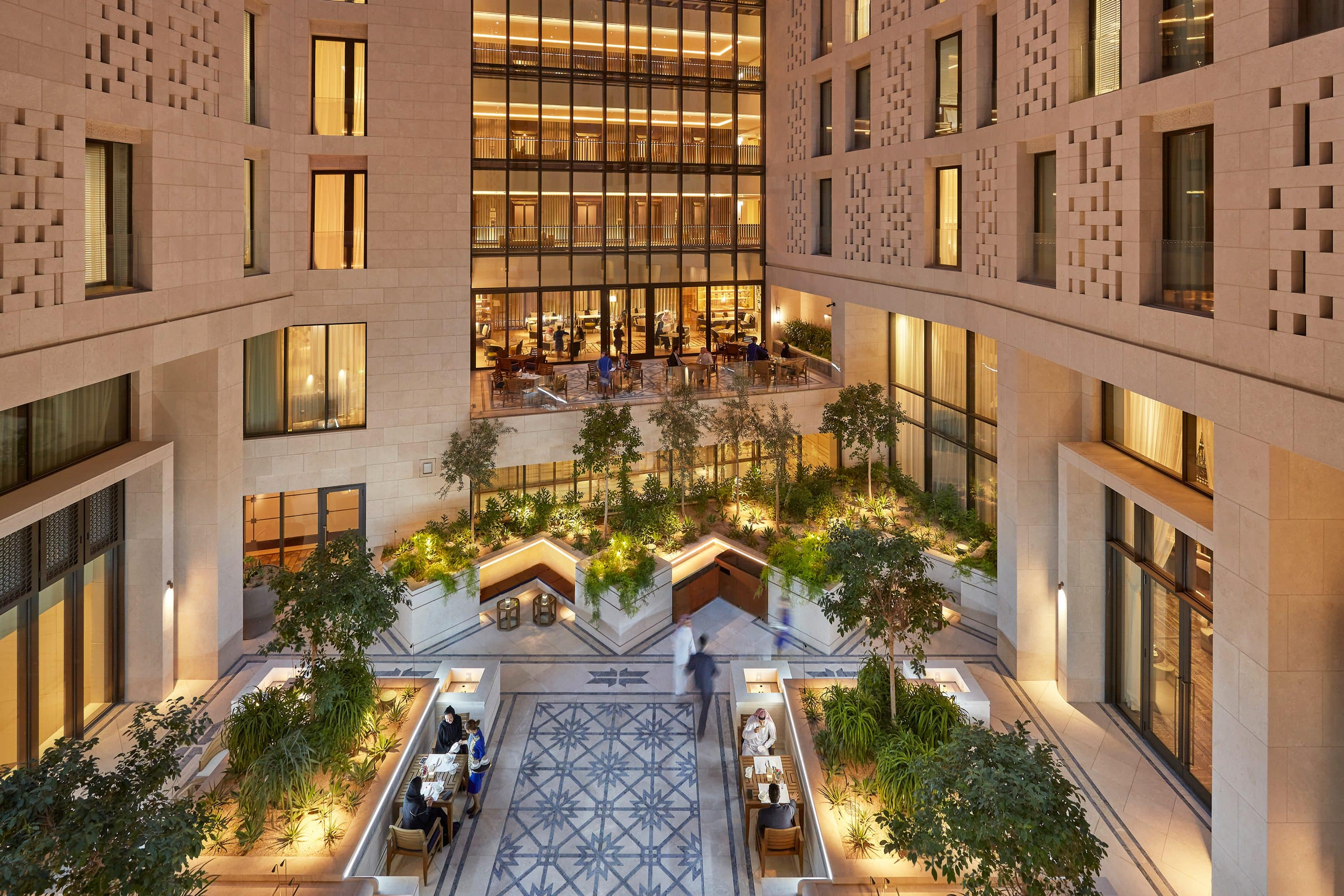 The lounge courtyard at Mandarin Oriental, Doha