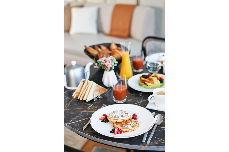 Room service breakfast at Mandarin Oriental, Paris