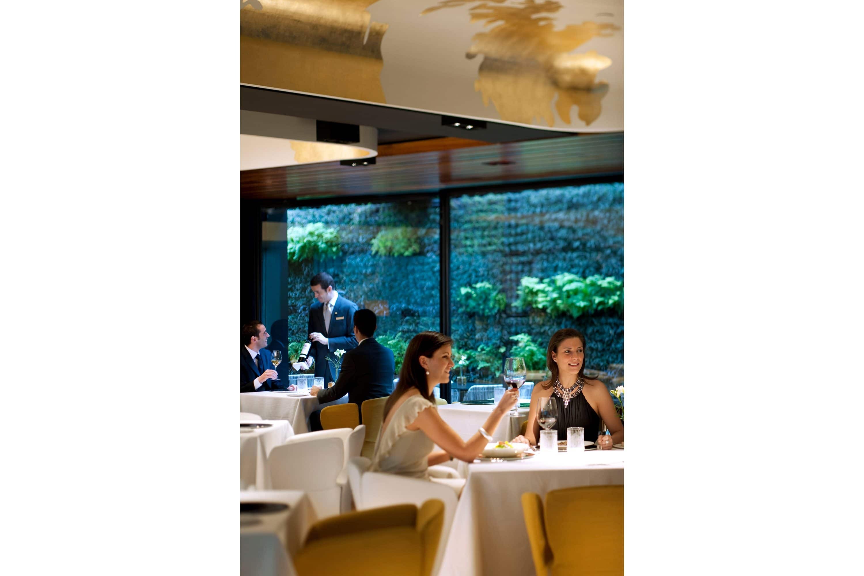 People dining at Moments restaurant, Barcelona
