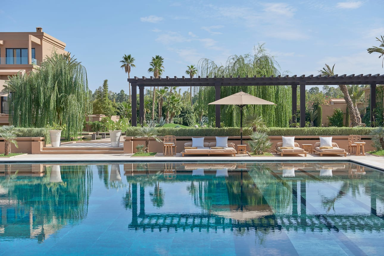 The swimming pool at Mandarin Oriental, Marrakech