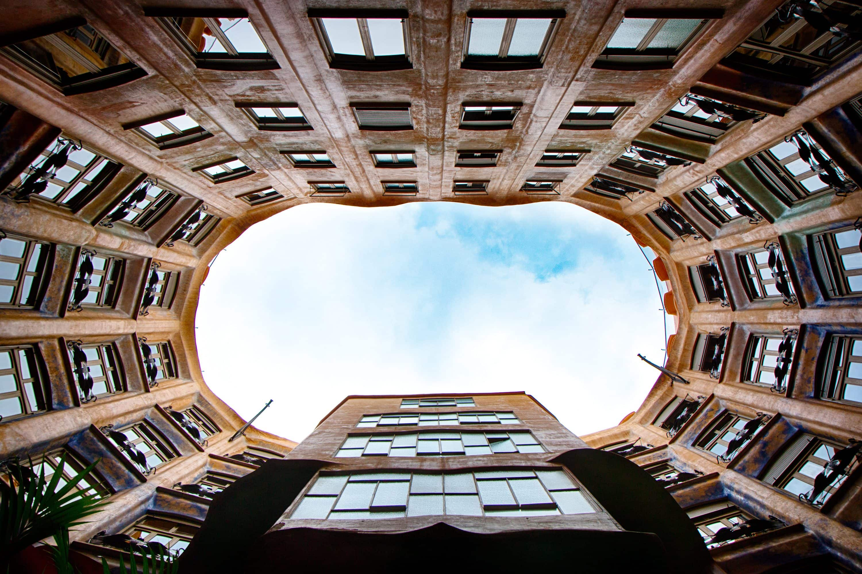 Interior light patio of La Pedrera, Barcelona