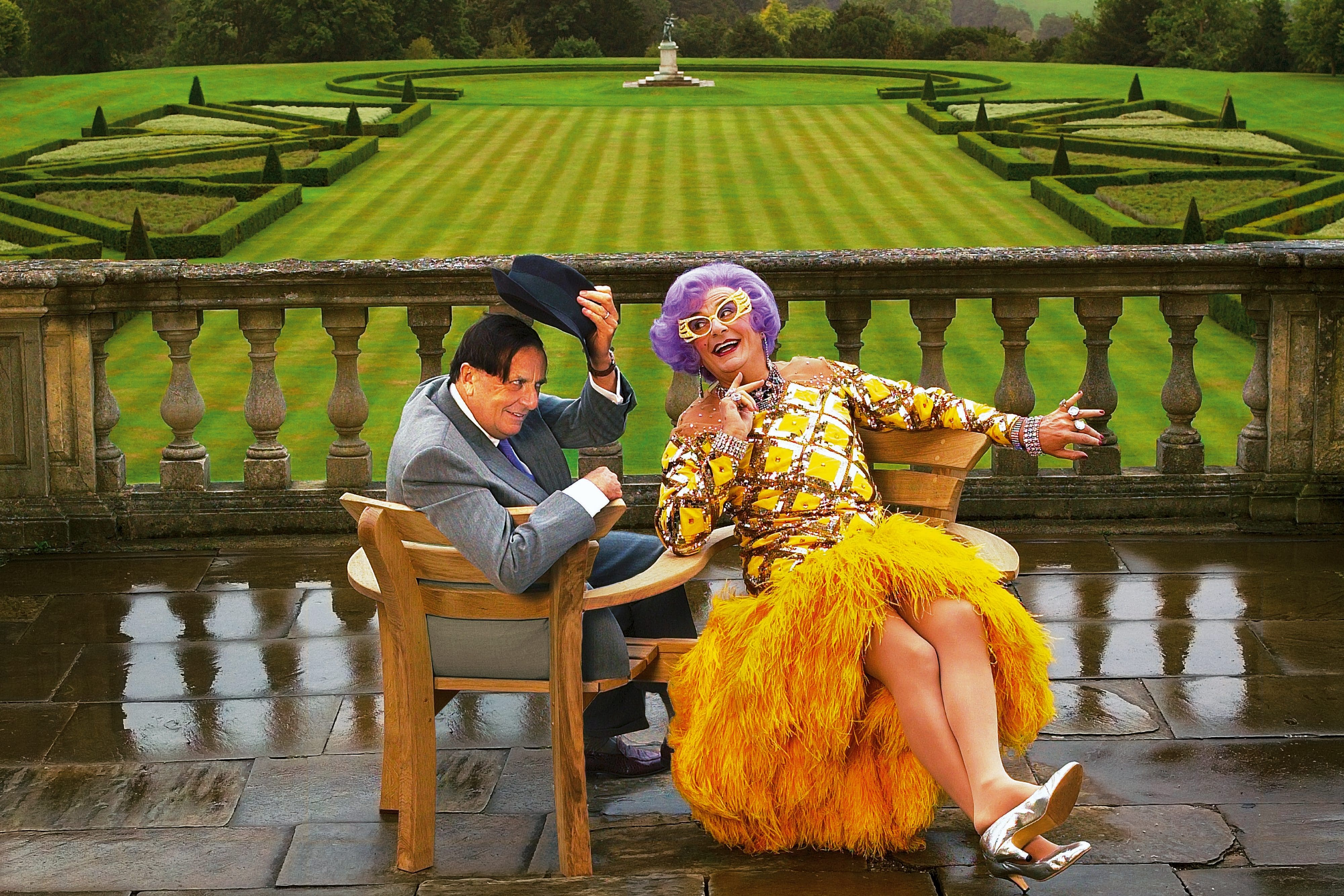 Portrait of Barry Humphries and Dame Edna Everage