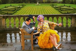 Portrait of Barry Humphries and Dame Edna