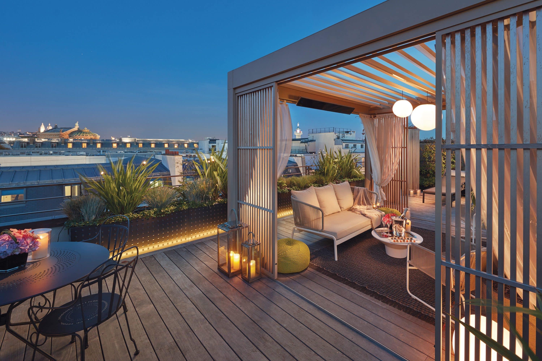Paris penthouse terrace