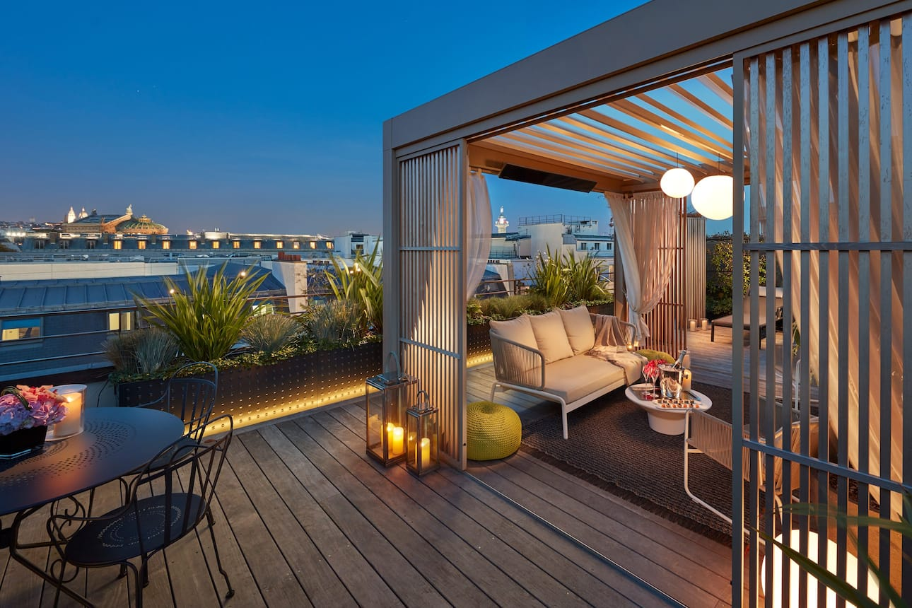 Paris penthouse terrace