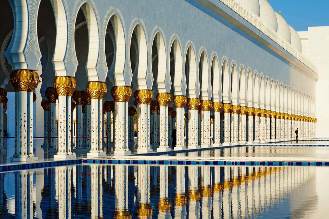 Pillars of Abu Dhabi Grand Mosque