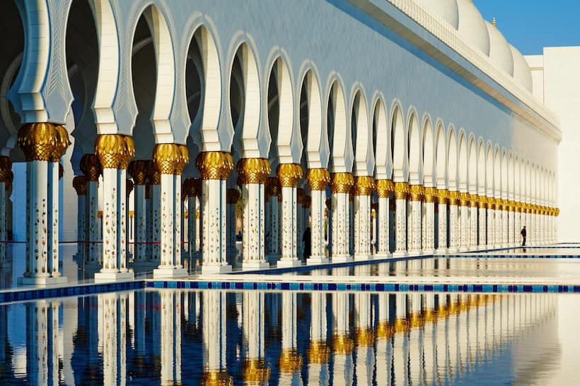Pillars of the Sheikh Zayed Grand Mosque Center