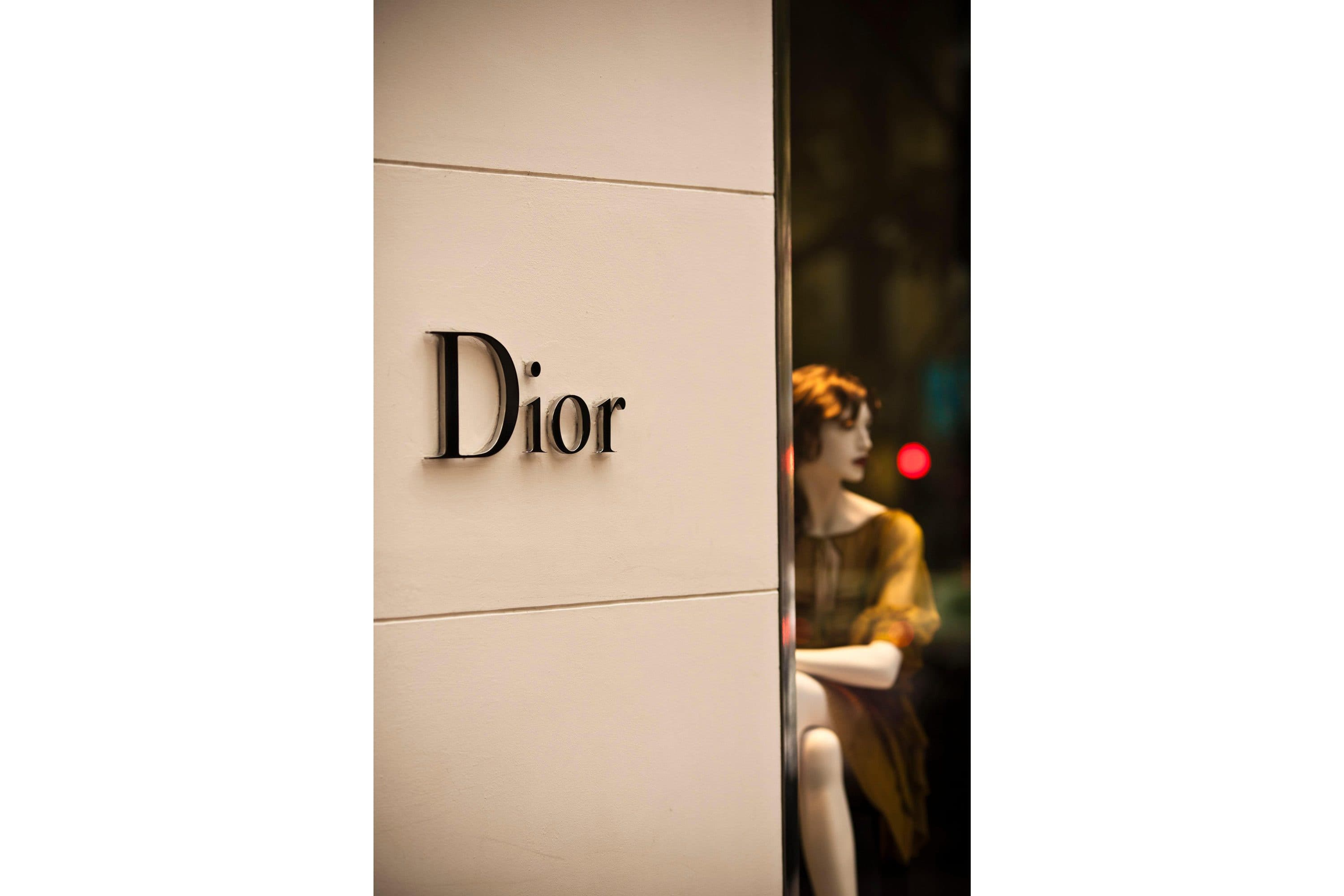 A mannequin in the window of the Dior shop in Madrid