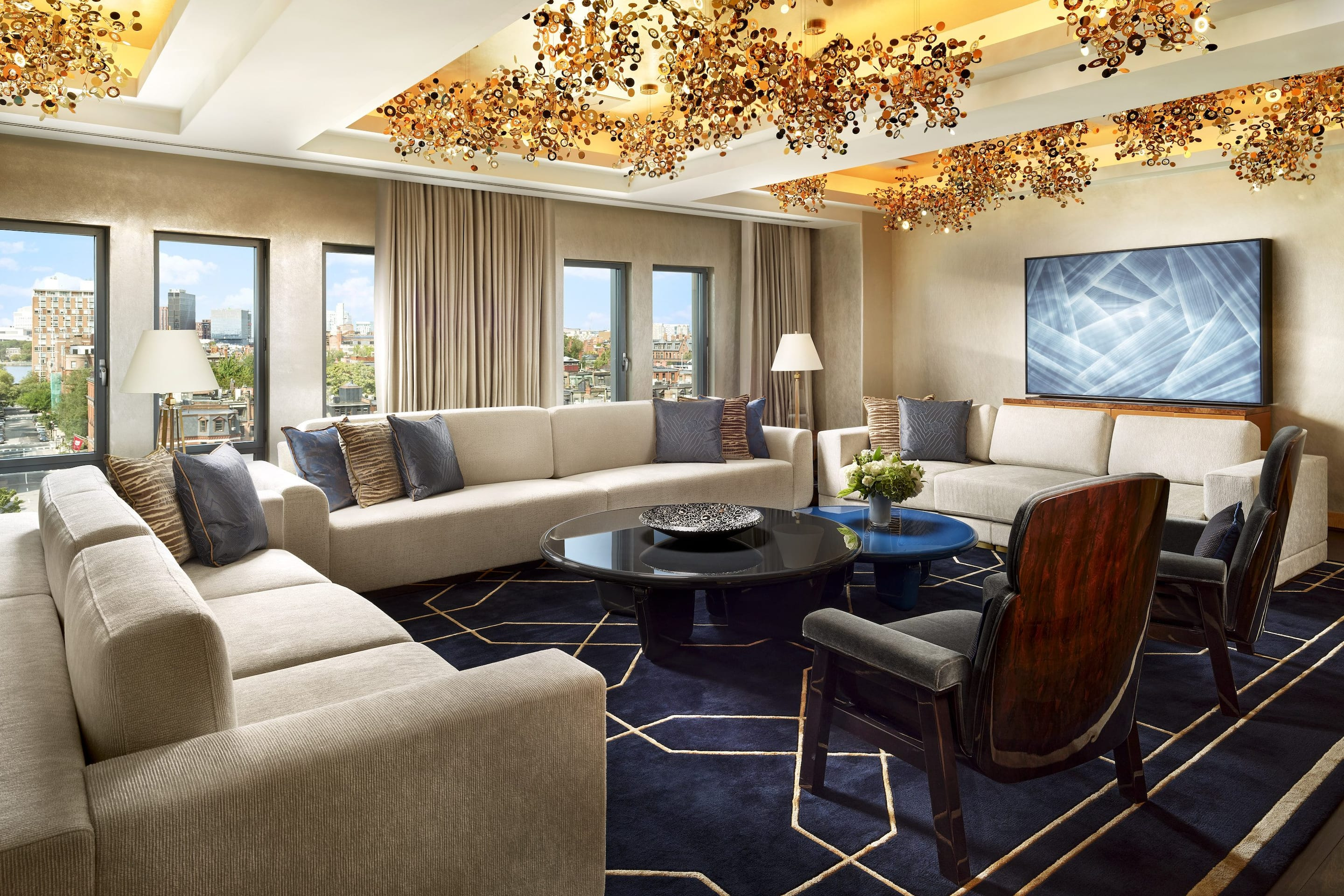 City views from the Royal Suite at Mandarin Oriental, Boston