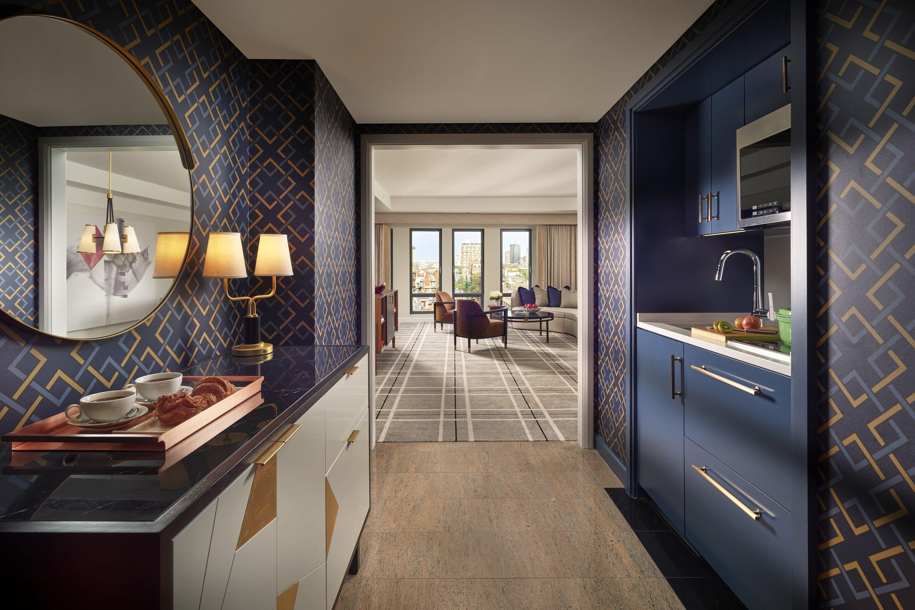 Room view of Corner Suite at Mandarin Oriental, Boston