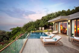 Overlooking the garden and pool at a villa at Mandarin Oriental, Bodrum