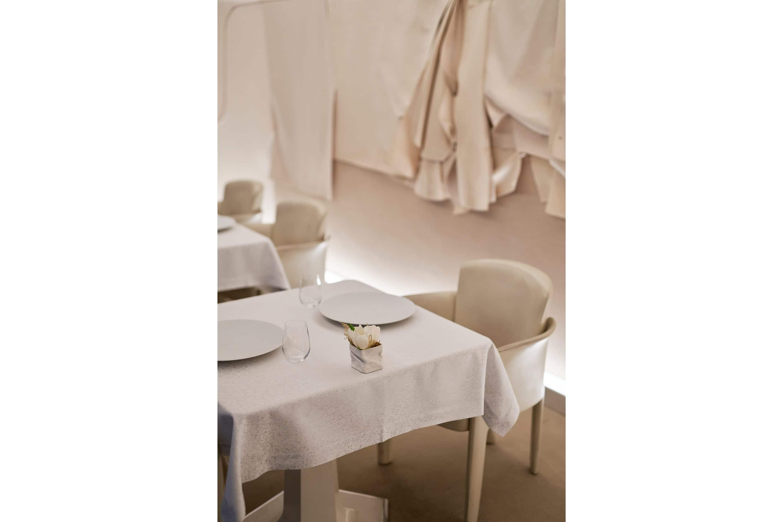 Laid table at Sur Mesure Par Thierry Marx