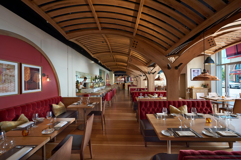Interior of Bar Boulud restaurant at Mandarin Oriental, Boston