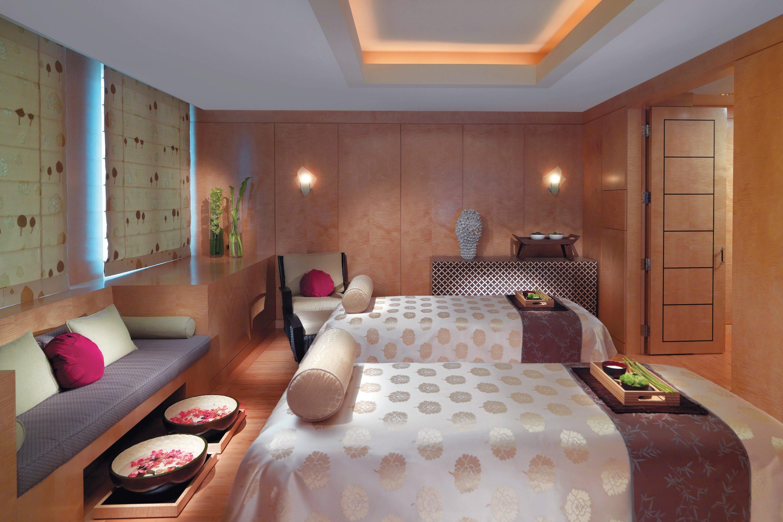 Couples massage beds at Mandarin Oriental, Boston