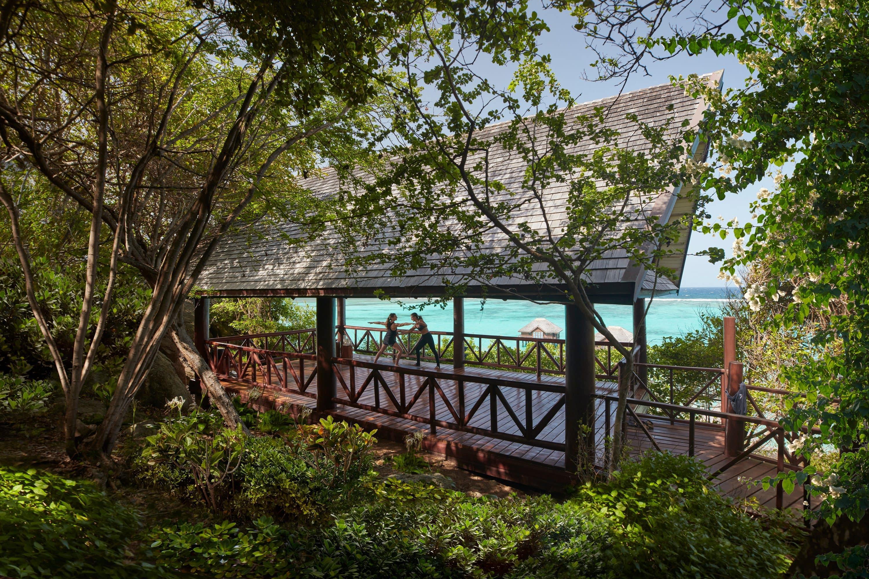 Yoga pavilion at Mandarin Oriental, Canouan