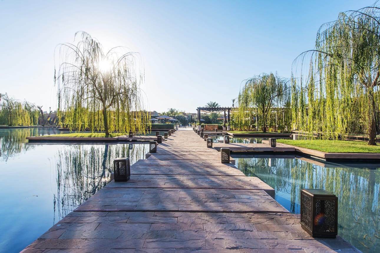 Path to pool garden at Mandarin Oriental, Marrakech