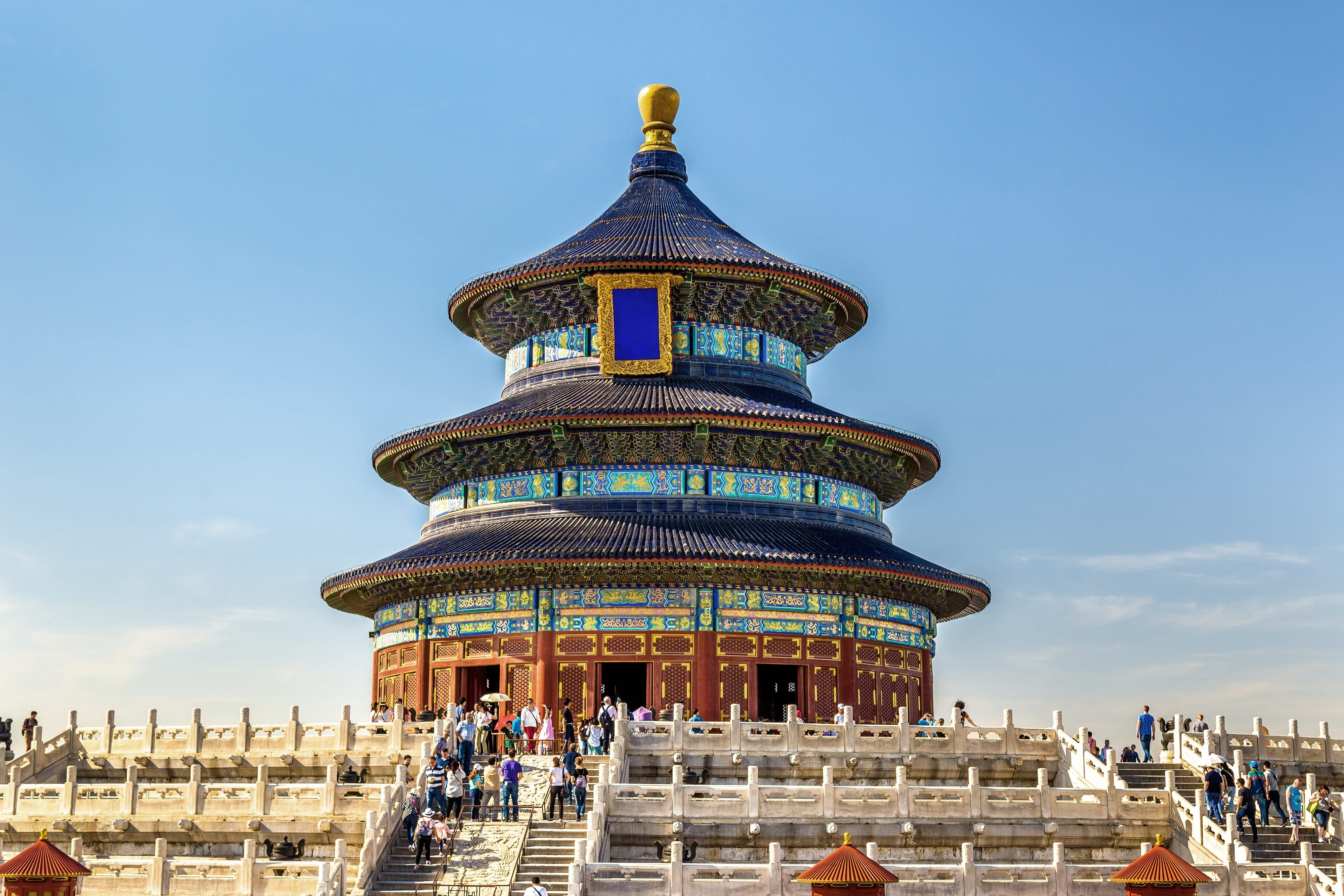 The exterior of the Temple of Heaven