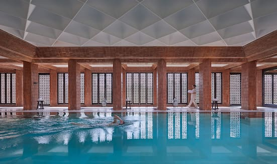 The pool at Mandarin Oriental, Marrakech