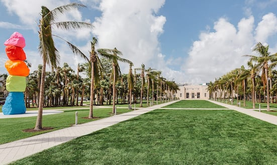 Art installation at Miami's Collins Park