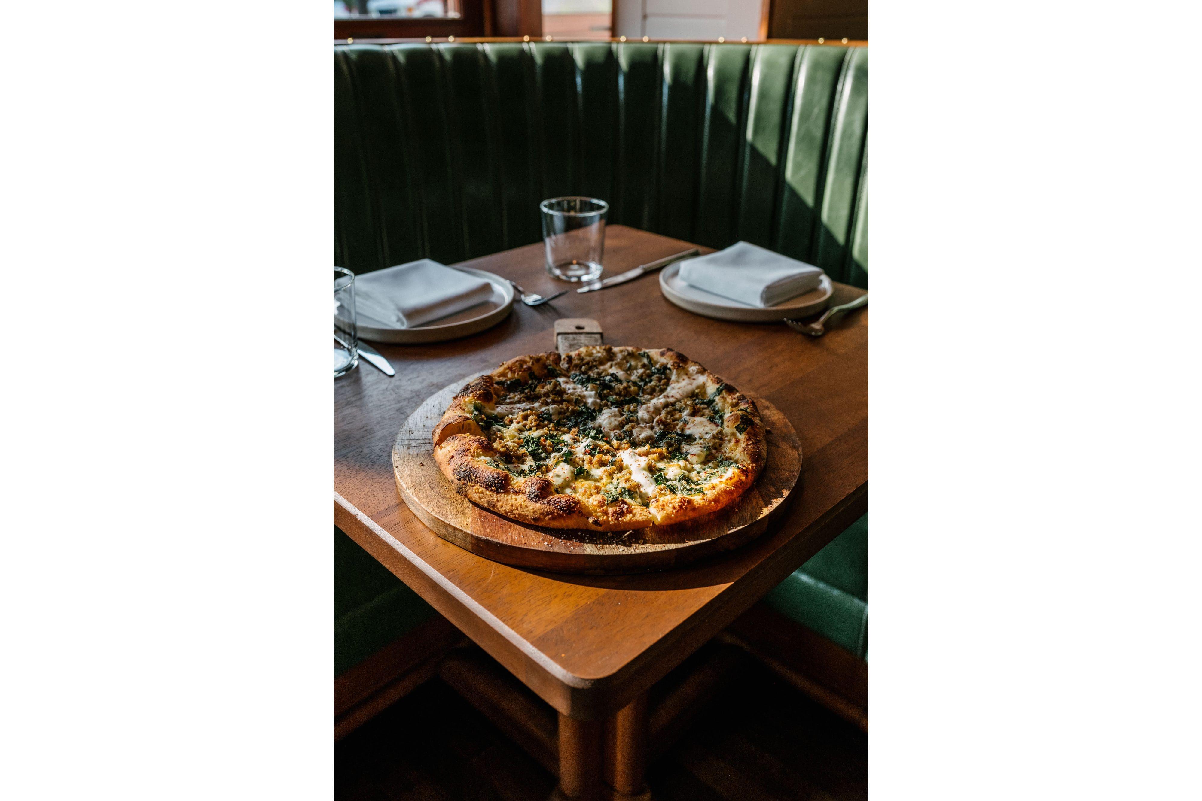 Pizza at a Miami SoFi restaurant