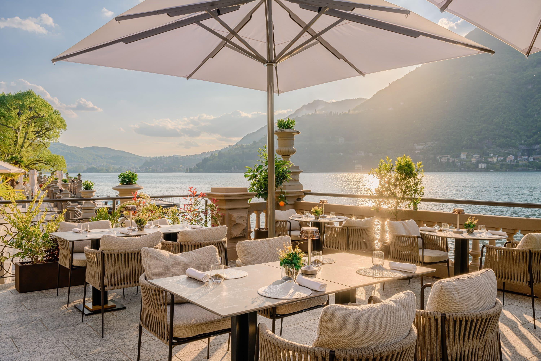 Terrace at L'Aria restaurant, Lake Como