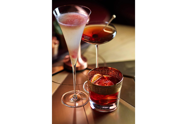Cocktails at the bar at Mandarin Oriental Wangfujing, Beijing