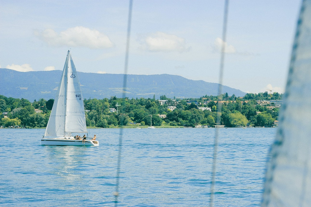 Sailing boat on Lake Geneva
