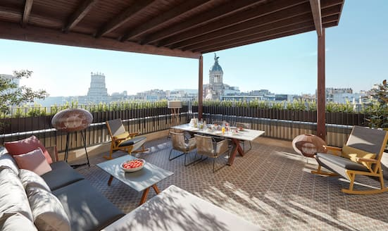 Terrace of Penthouse Suite at Mandarin Oriental, Barcelona