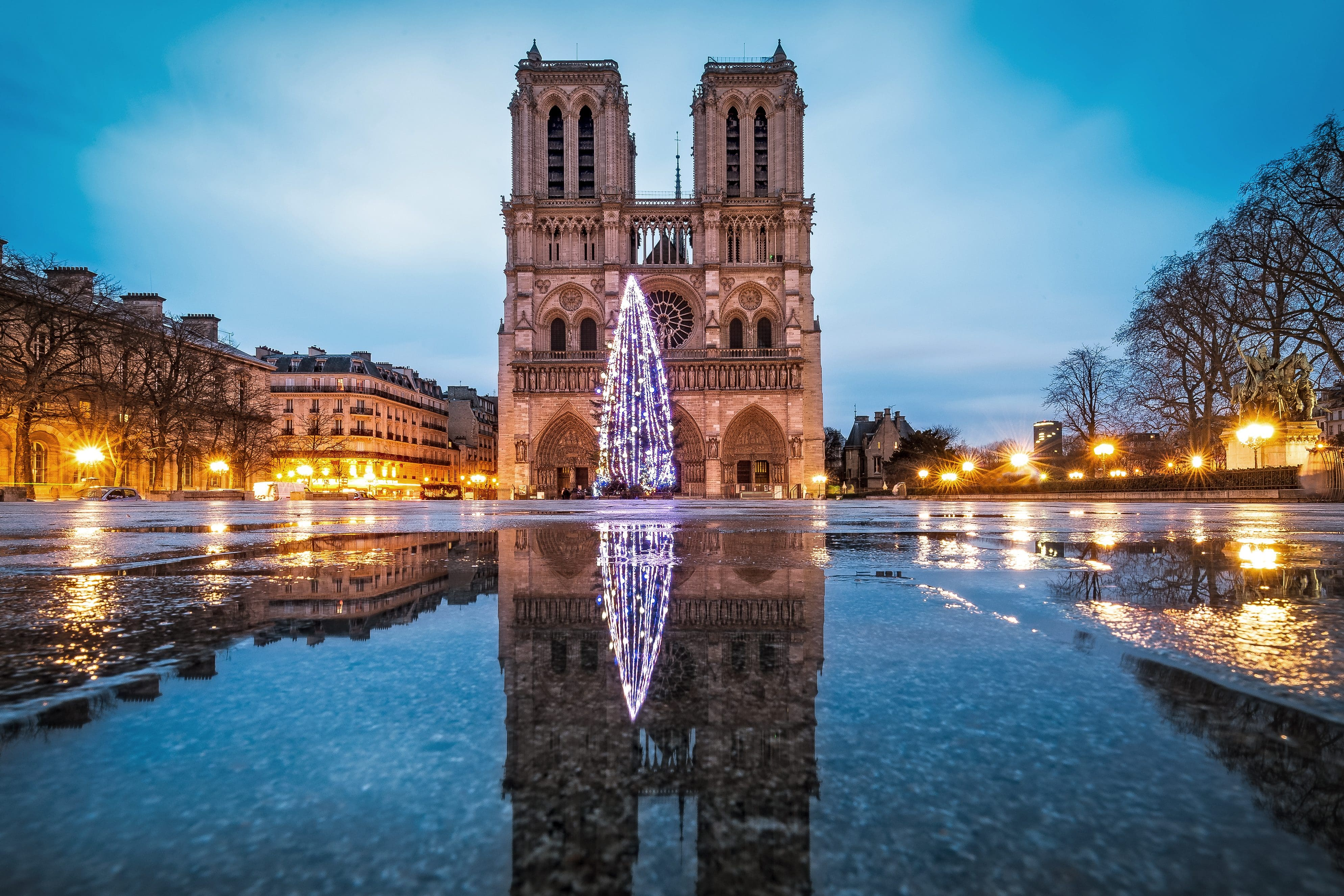 Paris during the holidays