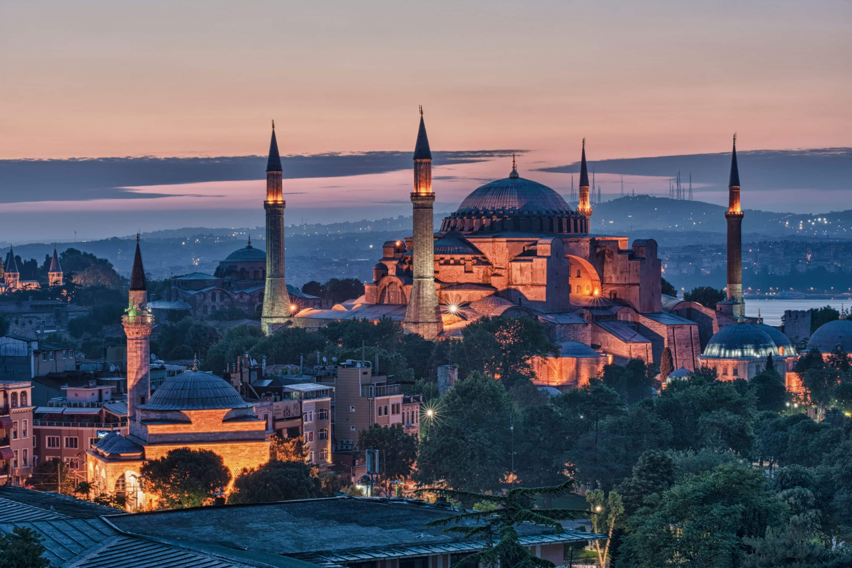Hagia Sophia, Istanbul at sunset