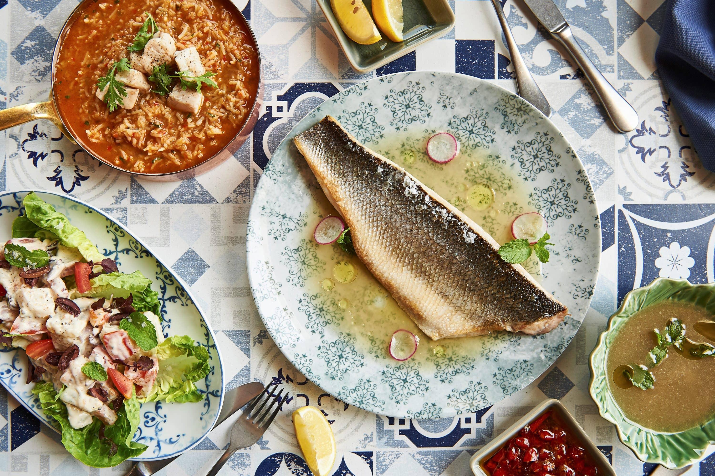 Fish dish at Tasca, Dubai
