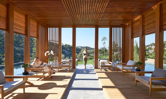 The spa tea lounge at Mandarin Oriental, Bodrum