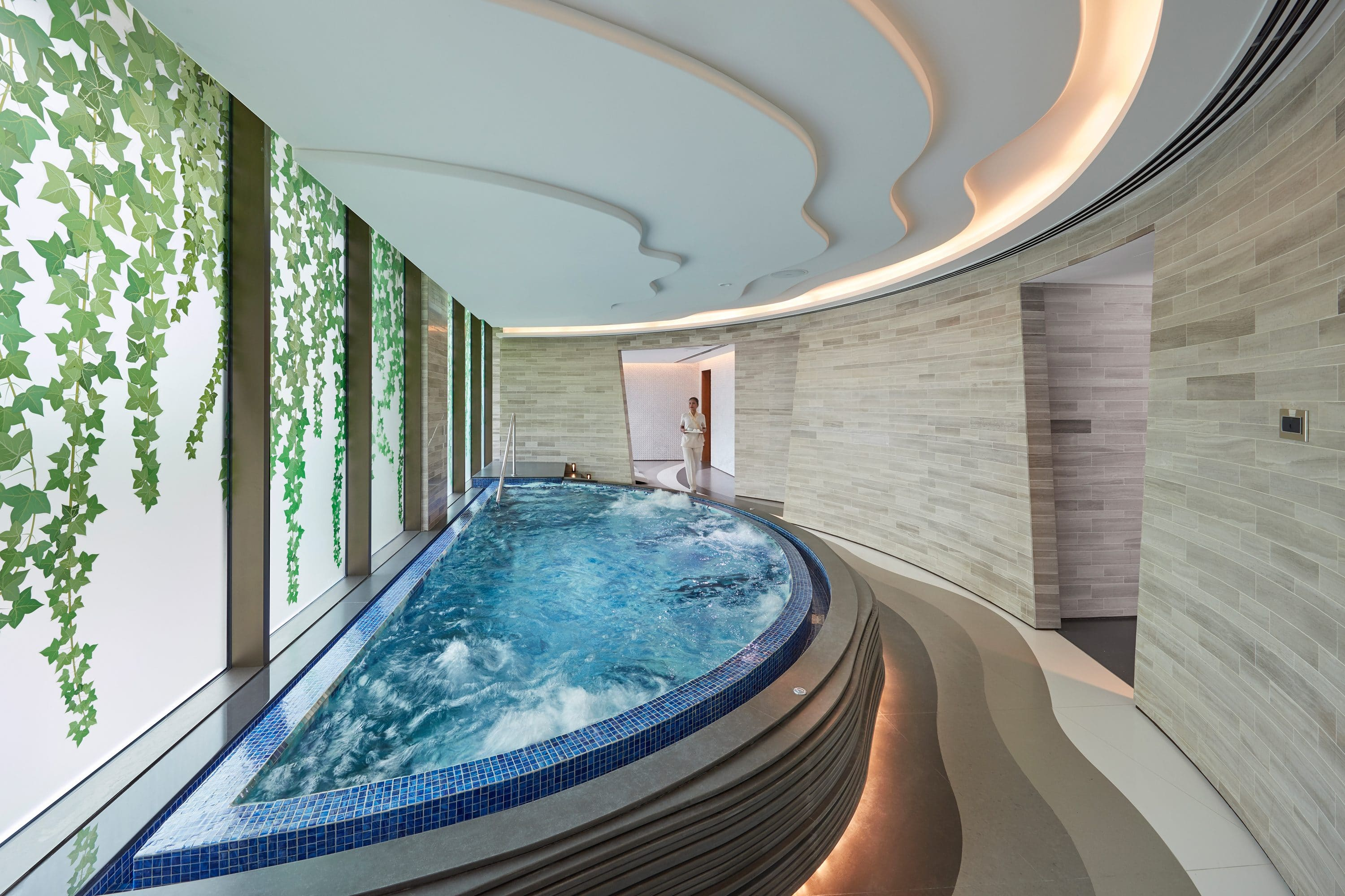 Vitality pool at the spa at Mandarin Oriental Jumeira, Dubai