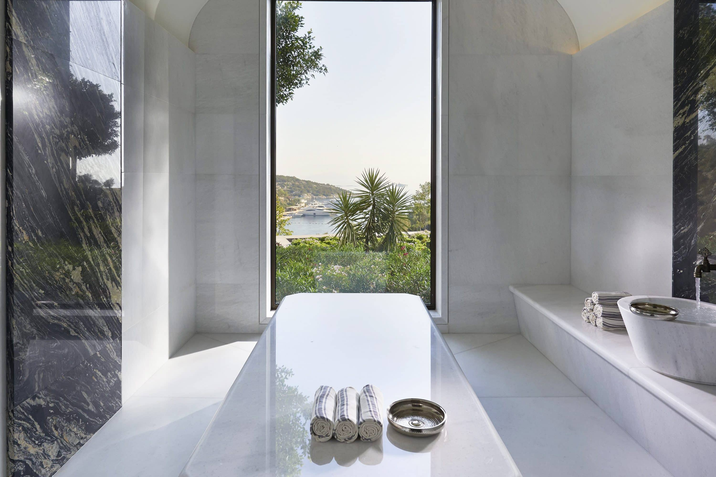 Hammam at the spa at Mandarin Oriental, Bodrum