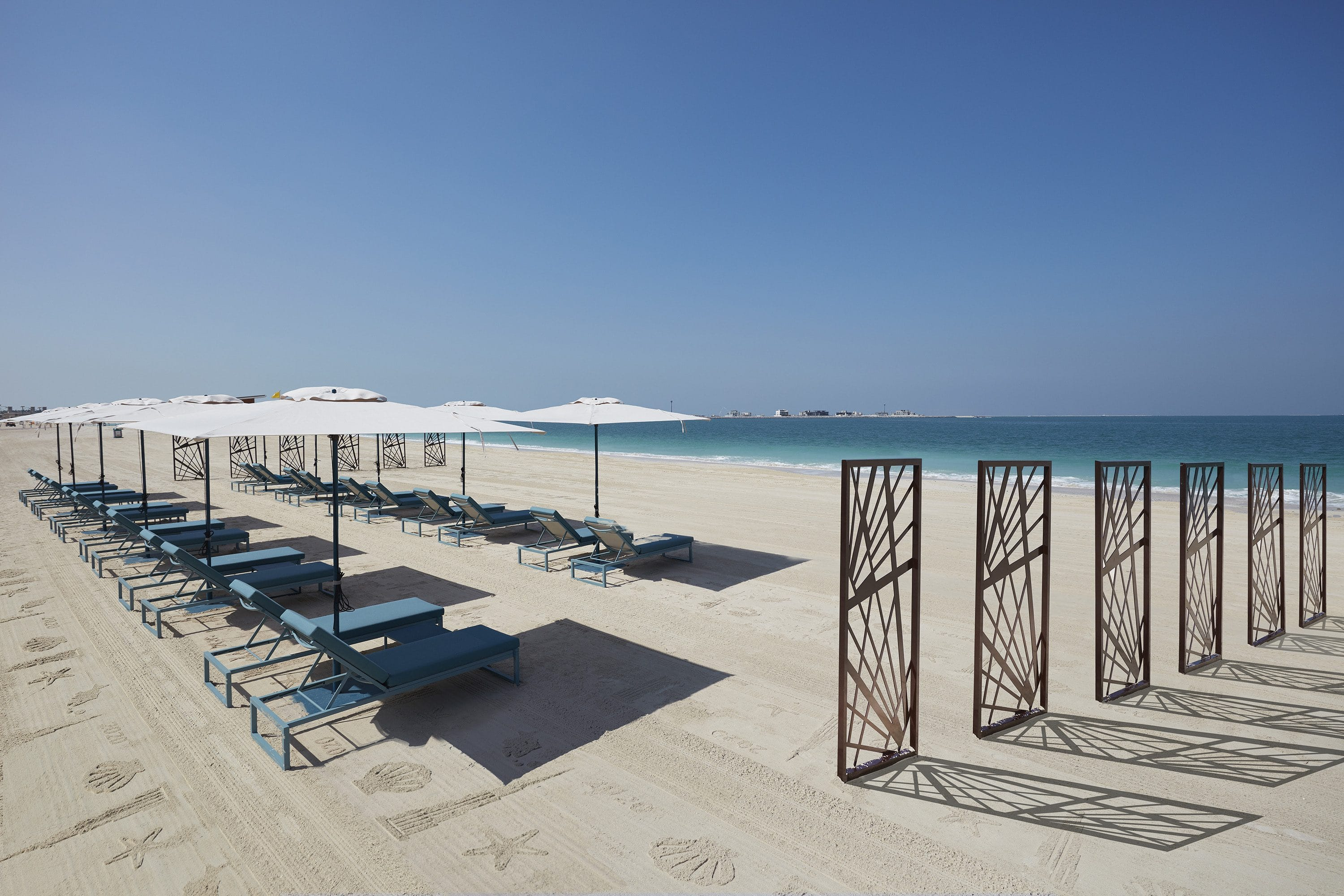Beach and loungers at Mandarin Oriental Jumeira, Dubai