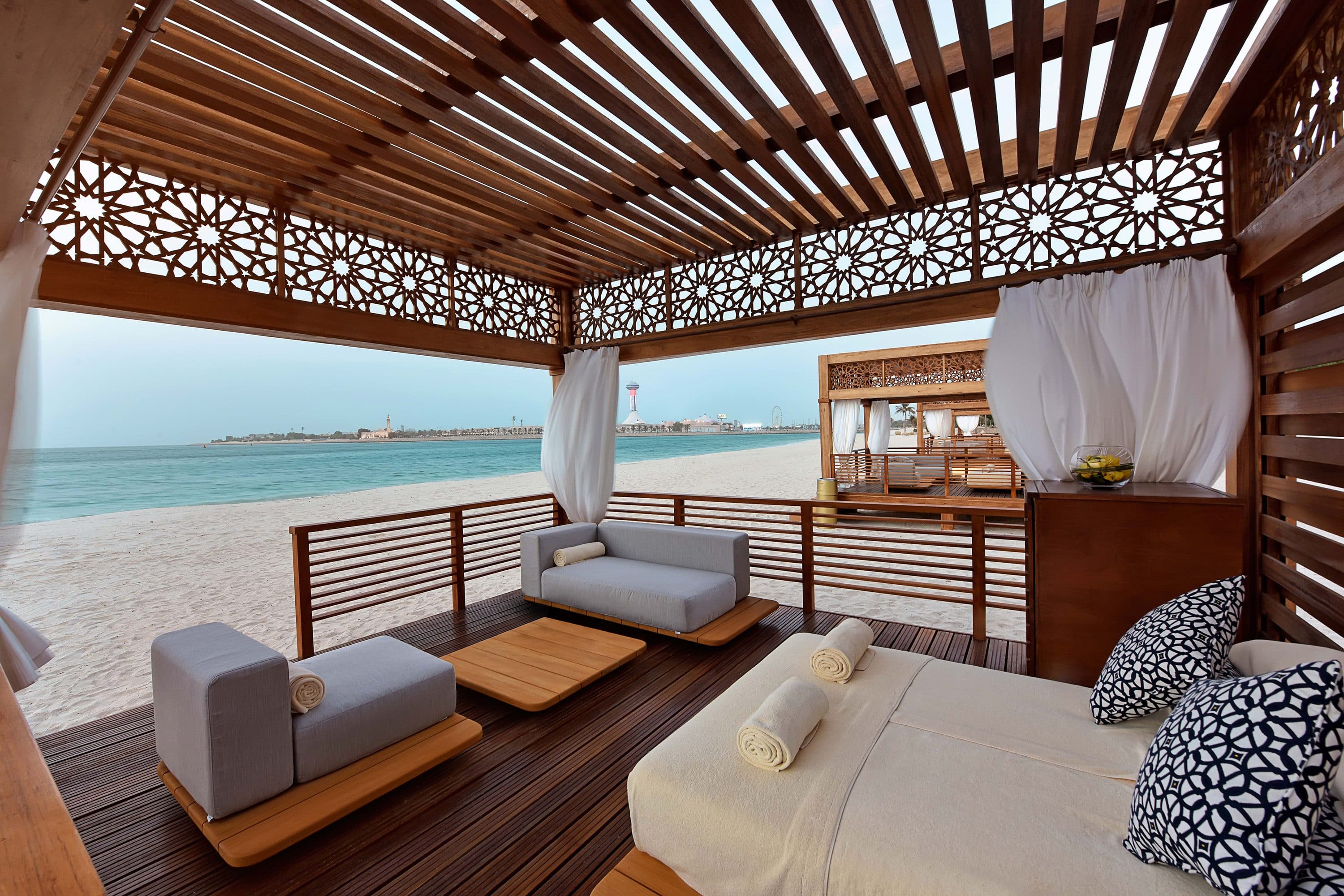 Beach cabana at Emirates Palace, Abu Dhabi