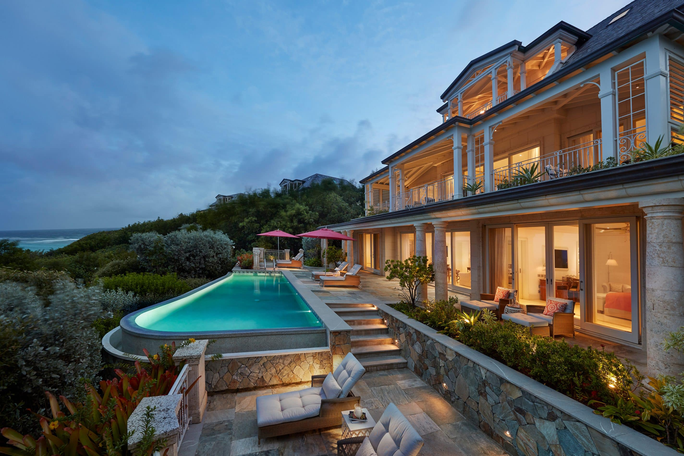 Terrace and pool of the Lagoon Villa at Mandarin Oriental, Canouan