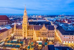 Christmas market stalls in Munich