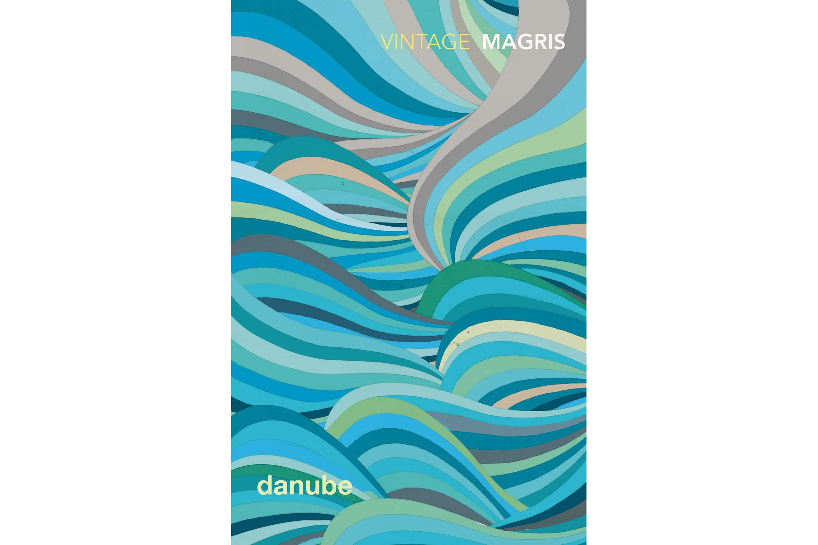 A blue spiral animation on the cover of Danube