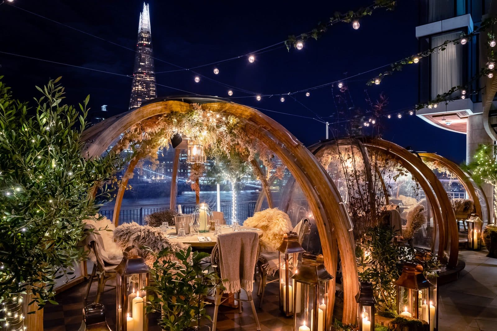 Cosy candlelit igloos at Coppa, London
