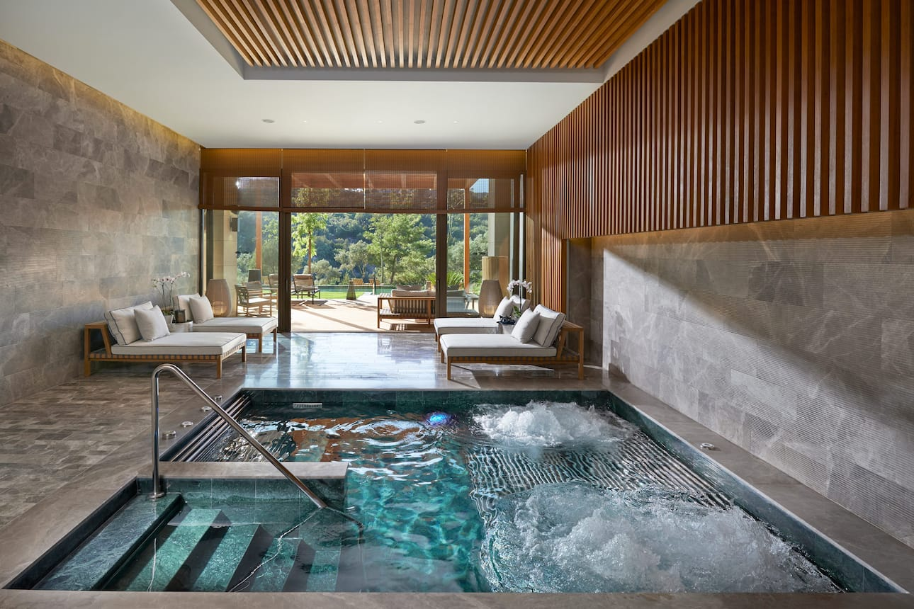 The indoor pool at The Spa at Mandarin Oriental, Bodrum