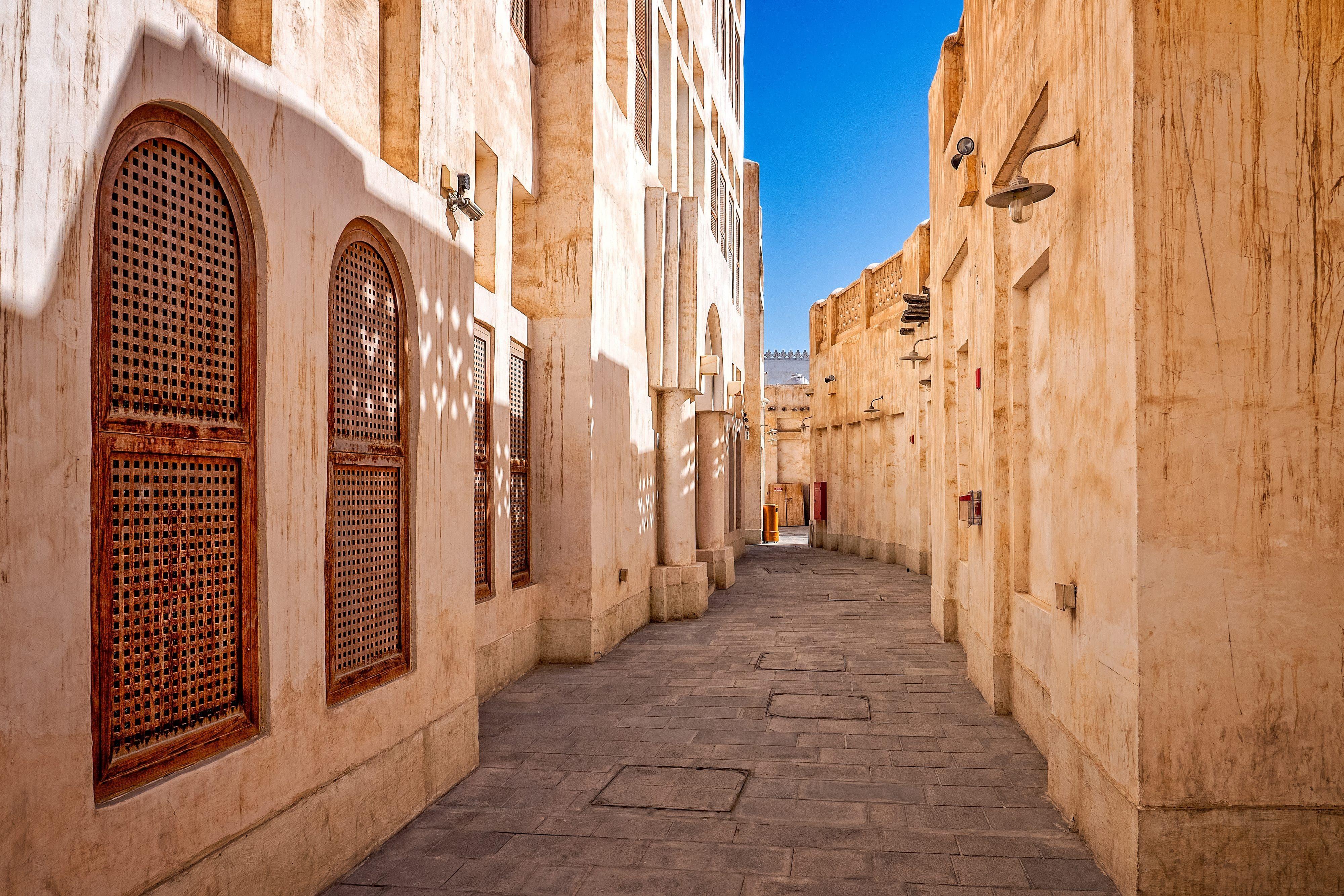 The narrow lanes of Souq Waqif