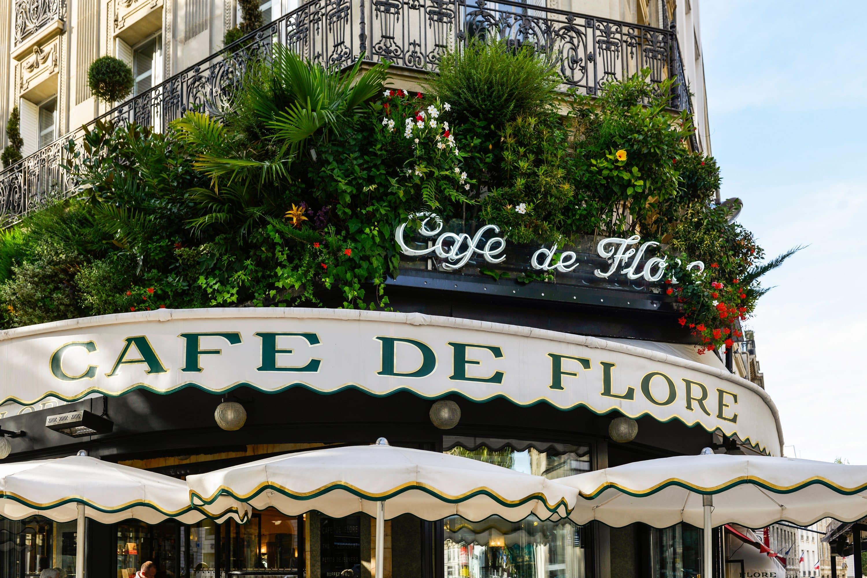Exterior of Cafe de Flore