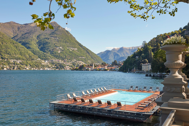 Floating pool and lake at Mandarin Oriental, Lago di Como