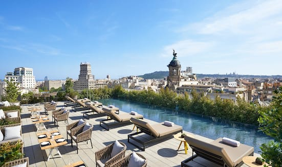 Rooftop bar Terrat at Mandarin Oriental, Barcelona