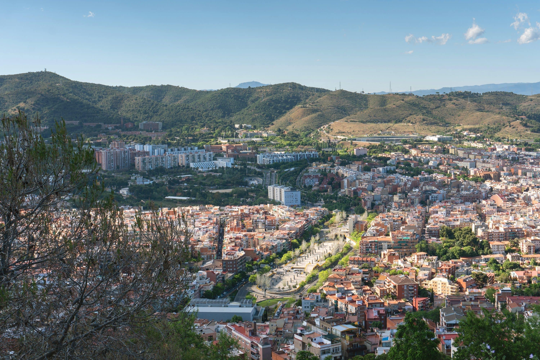 View from a hilltop overlooking El Carmel neighbourhood